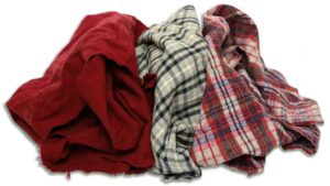 reclaimed color flannel rags