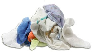reclaimed dish towels, diapers, and microfiber rags