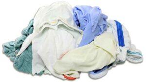 reclaimed knit sheet rags