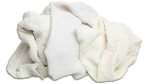 reclaimed white thermal knit rags