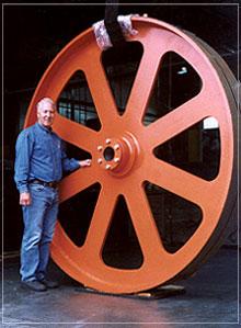 "8' diameter X 12"" Face top headrig bandwheel c/w tapered bore"