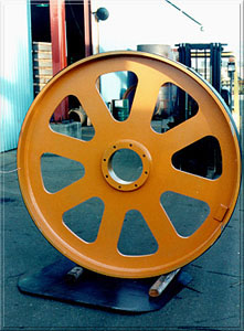 6' diameter fabricated steel top bandwheel