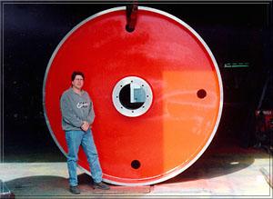 9' diameter top headrig bandwheel