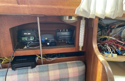 Removing old wiring and electronics from a cruising sailboat