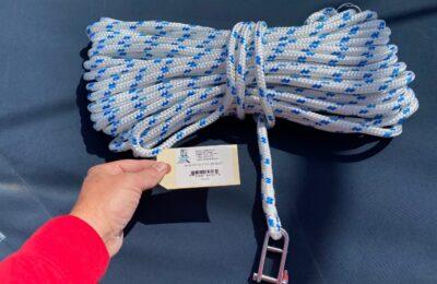 Installing new rope halyards