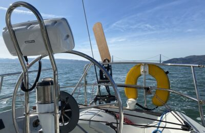Aries Wind Vane:  Rigging and Test Sail