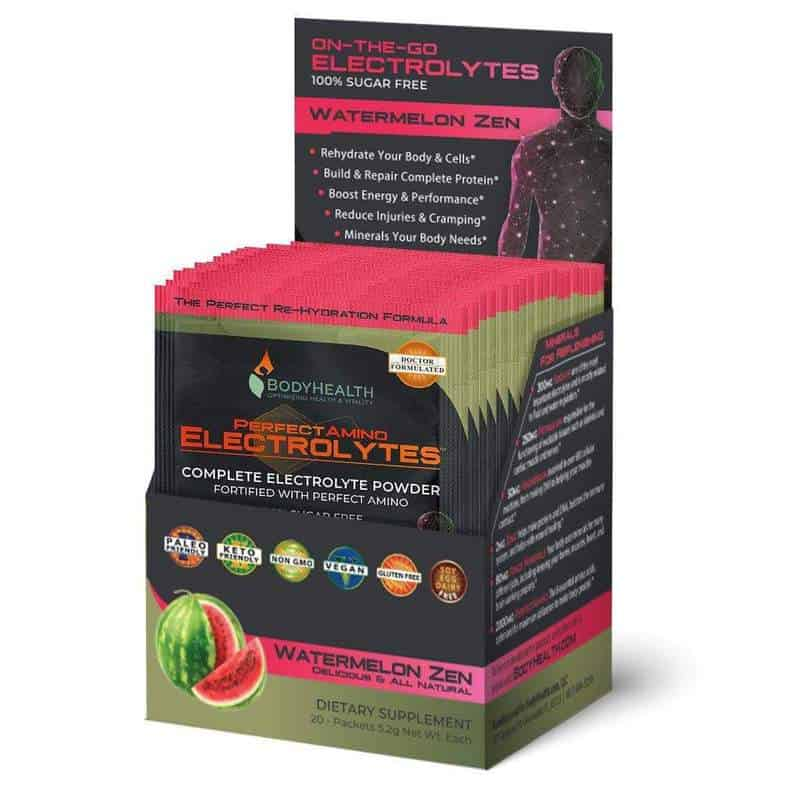 Alma Supplements - PerfectAmino Electrolyte Packets - Watermelon Zen