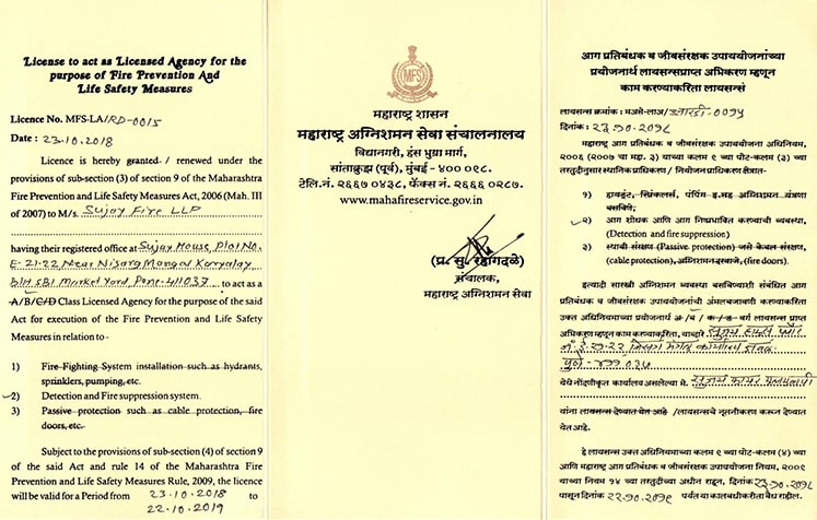 Fire-Certificates
