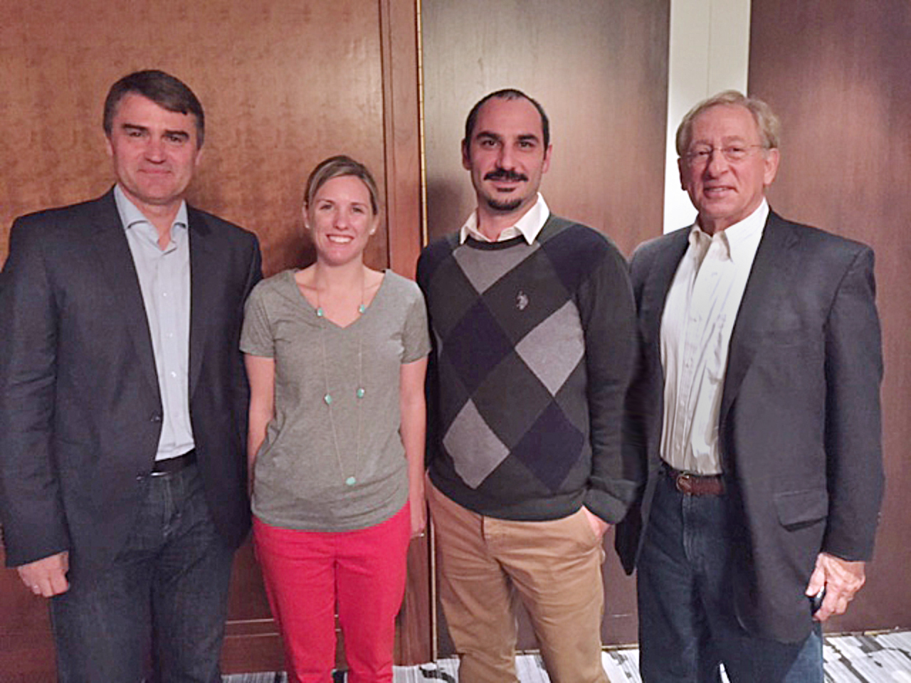 Pictured above (left to right) is past PRGN president Uwe Schmidt, Lauren Reed, APR, President at Reed Public Relations; Cinar Ergin, CEO at Aristo Communications and current PRGN president Ed Stevens, APR+M.