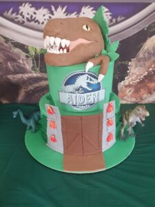 Jurassic party cake