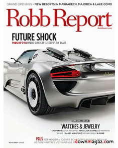 Robb Report   November 2010