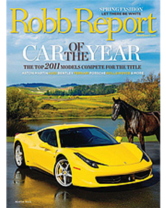 Robb Report Lifestyle   March 2011