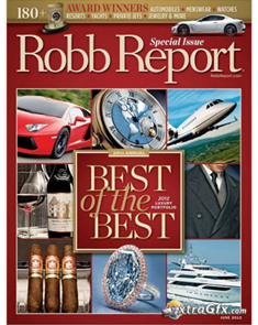 """Robb Report """"Best of the Best"""" Issue   June 2012"""