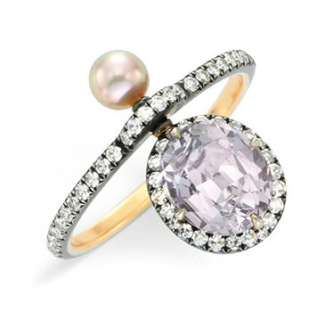 A Spinel And Diamond Ring, By Nadia Morgenthaler