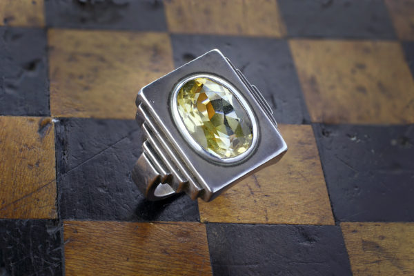 Rene Boivin Silver And Citrine Ring