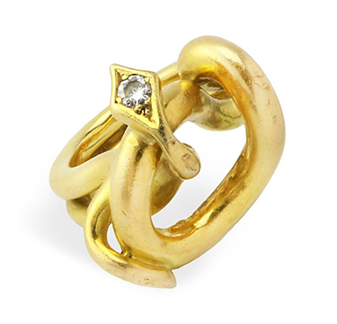 A Gold and Diamond Snake Ring, by Cartier, circa 1970