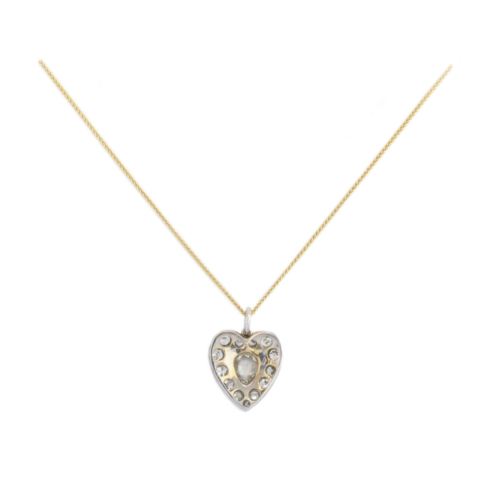Diamond-set Heart Pendant