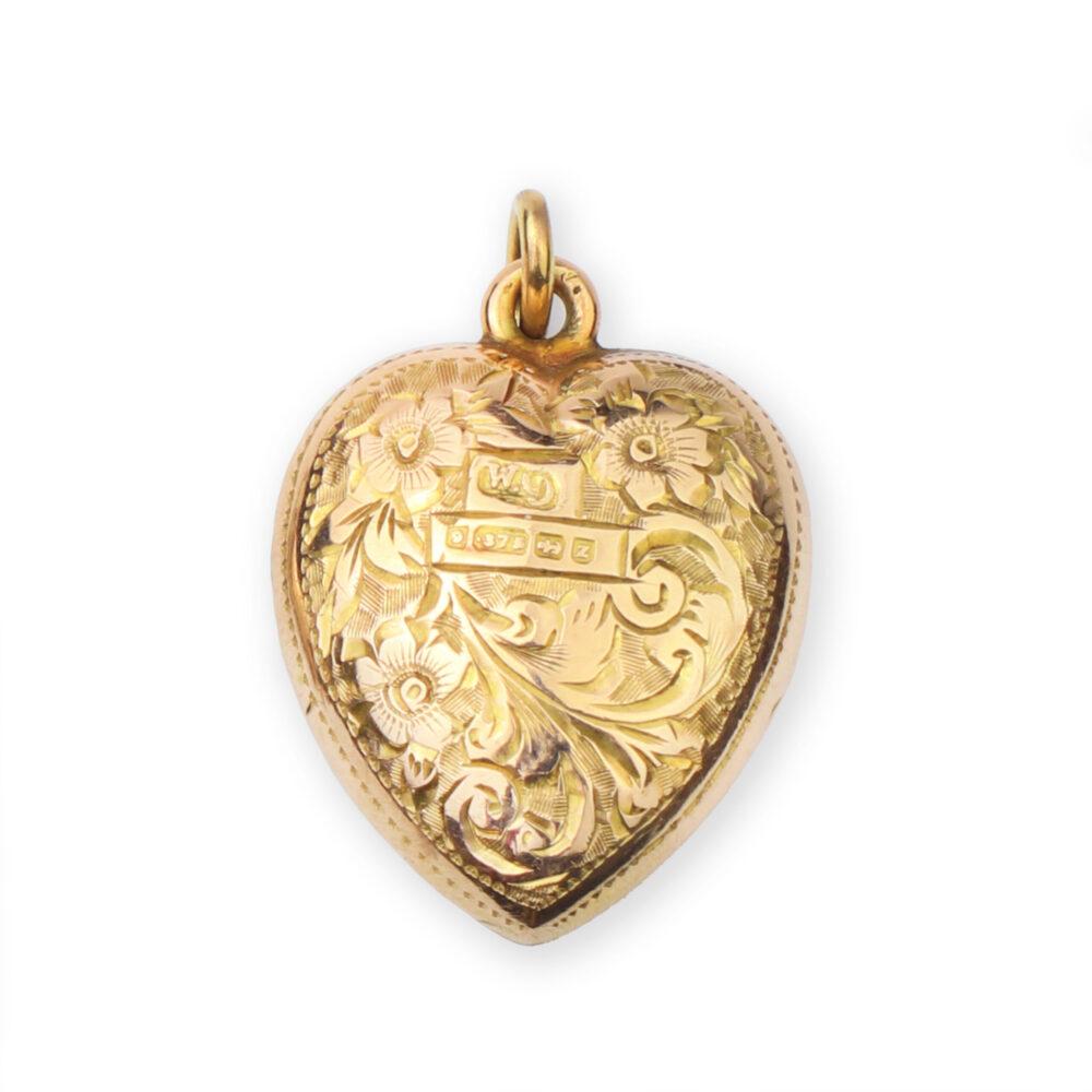 Antique Gold Heart Shaped Pendant