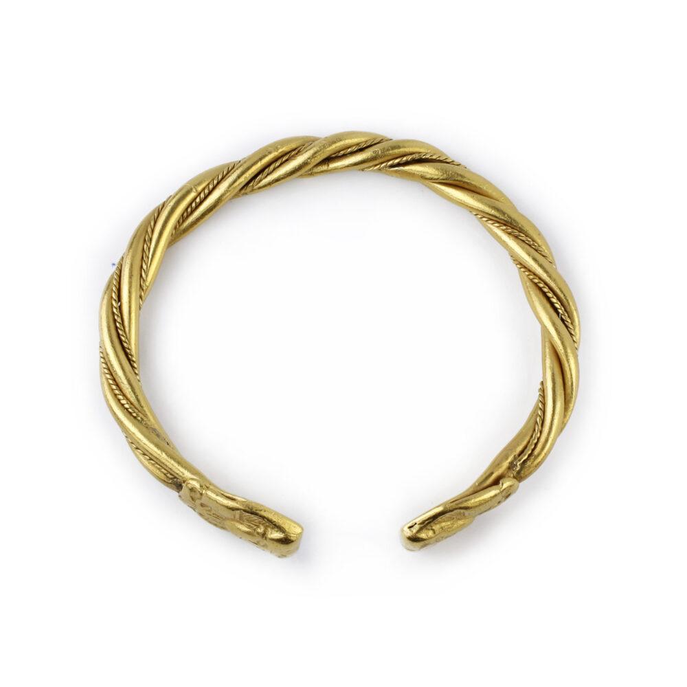 Egyptian Revival Gold Cuff Bracelet