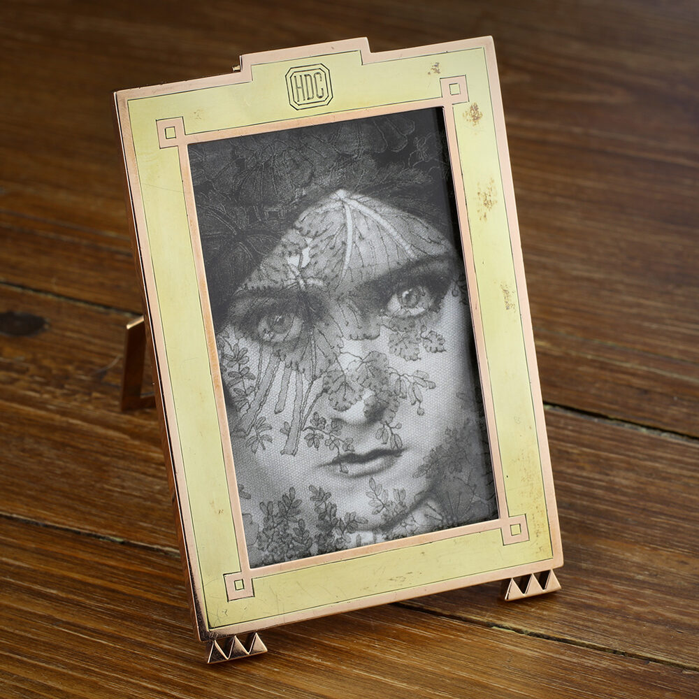 Cartier Two Tone Gold Photo Frame
