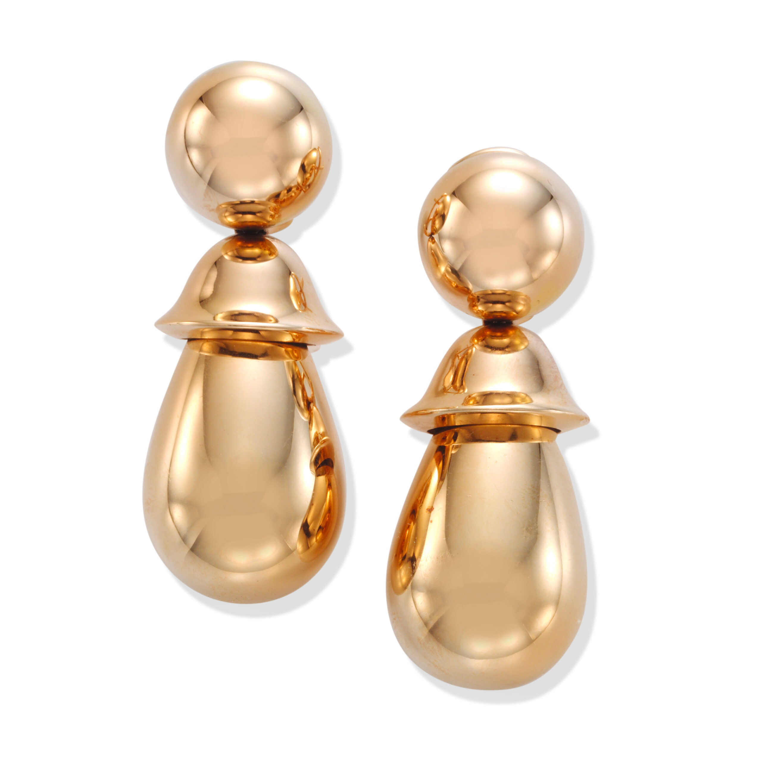 A Pair of Rose Gold Ear Pendants, by Hemmerle