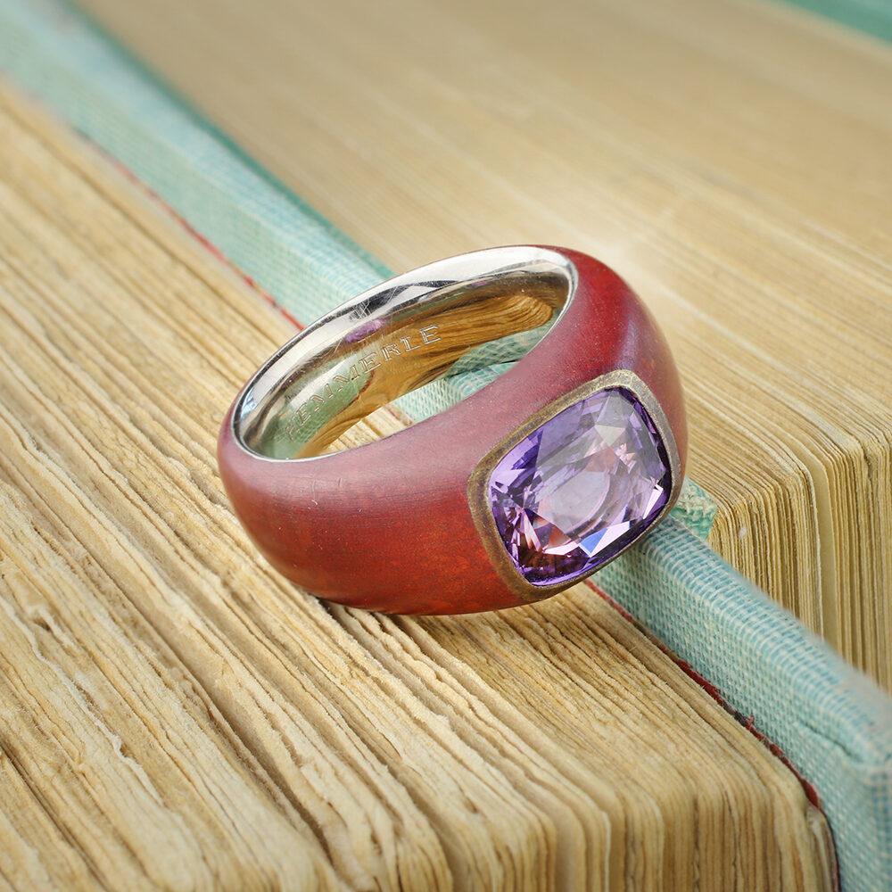 Hemmerle Purple Sapphire Ring