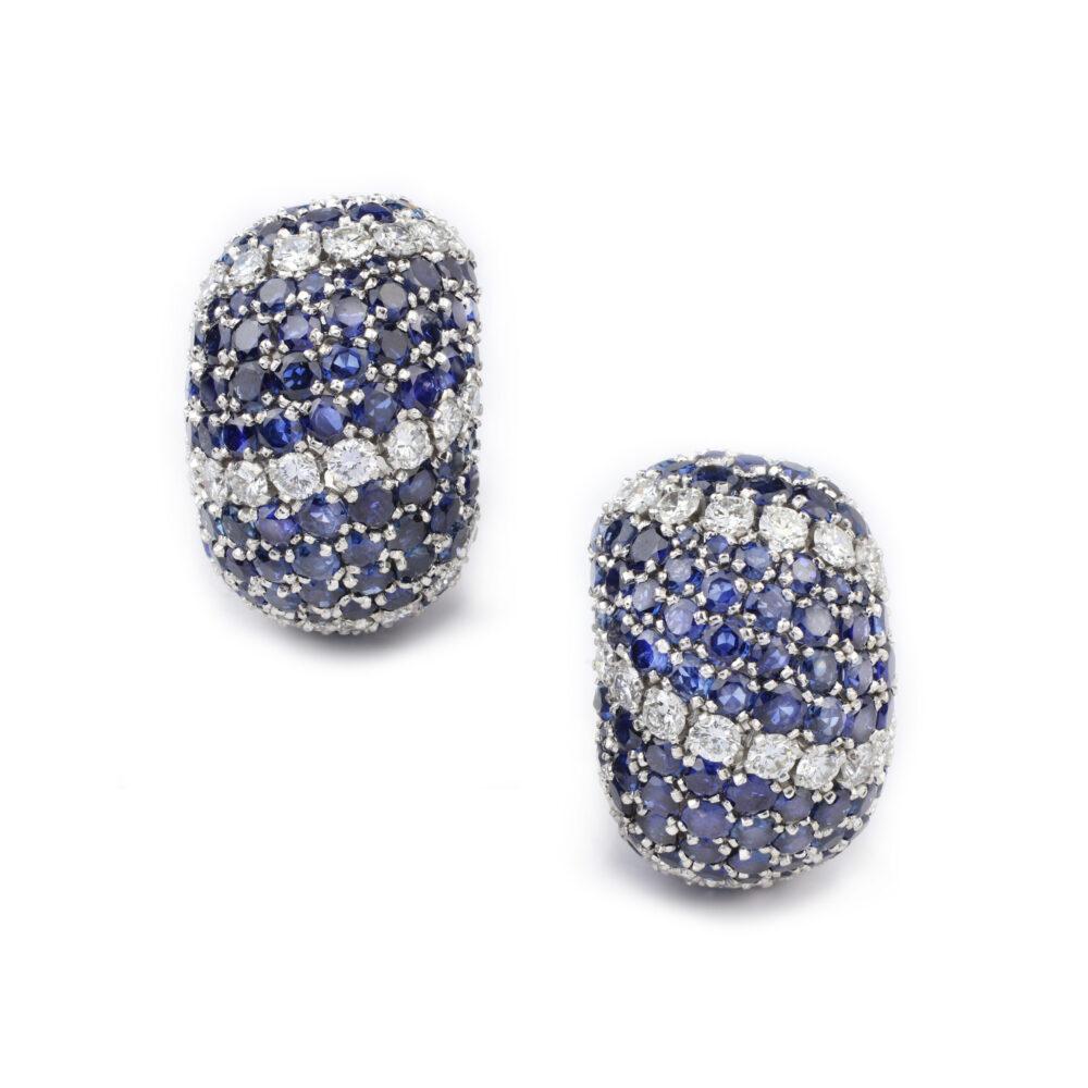 Van Cleef & Arpels Sapphire and Diamond Earrings and Ring Set