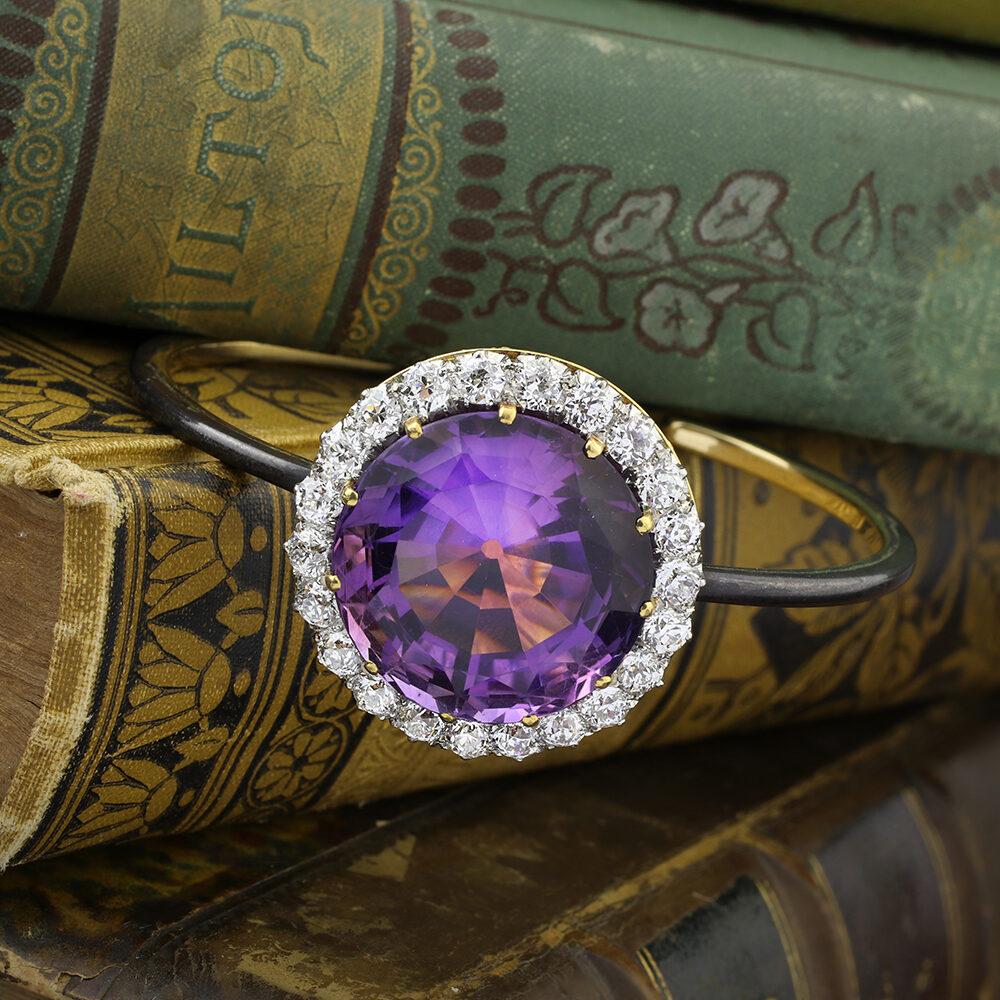 Amethyst and Diamond Bracelet
