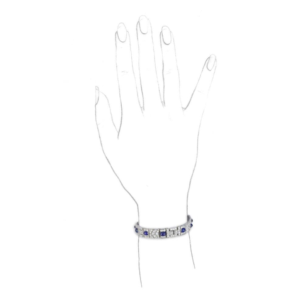 Cartier Sapphire and Diamond Bracelet