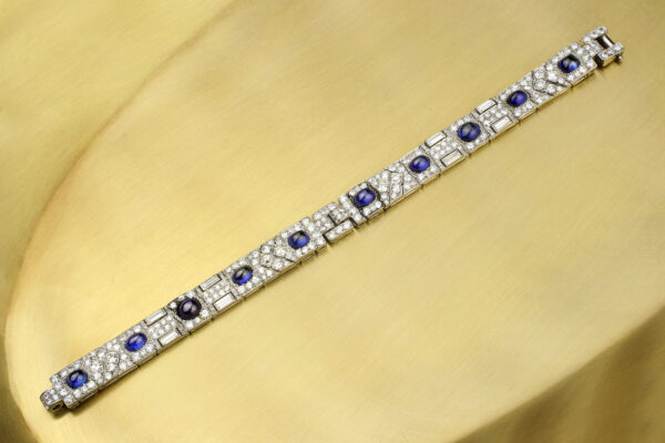 Cartier Sapphire And Diamond Bracelet» Price On Request «