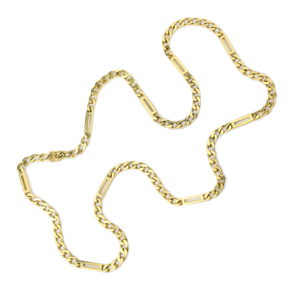 Bulgari Gold Long Chain Necklace
