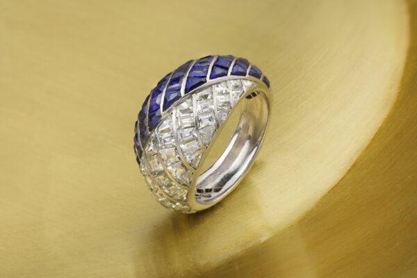 Van Cleef & Arpels Art Deco Sapphire And Diamond Ring