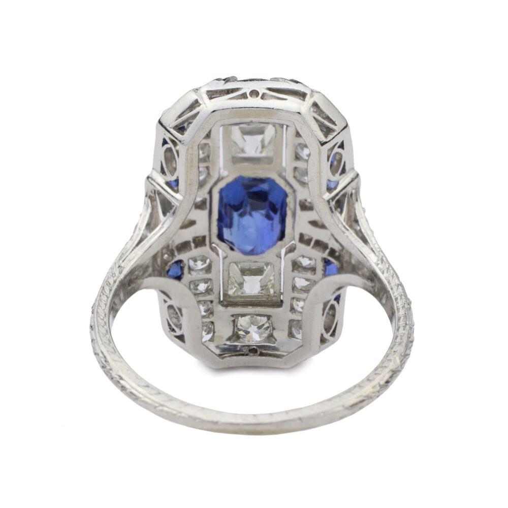 An Art Deco Sapphire and Diamond Ring