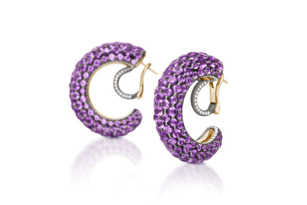 Amethyst And Diamond Creole Earrings» Price On Request «