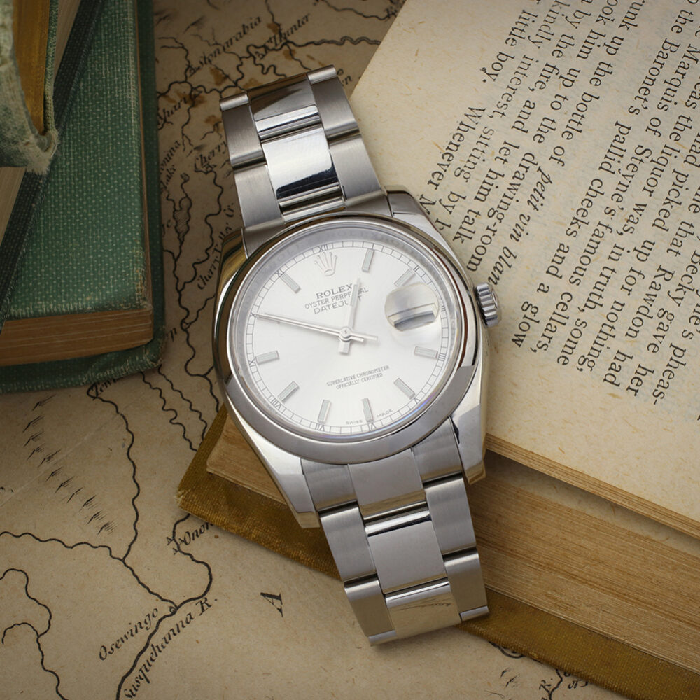 Rolex Oyster Perpetual Date Just Stainless Steel Wristwatch