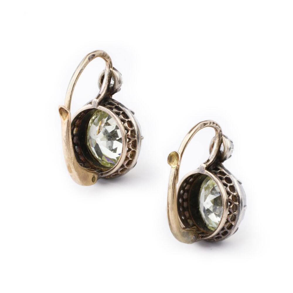 Antique Diamonds on a Wire Earrings