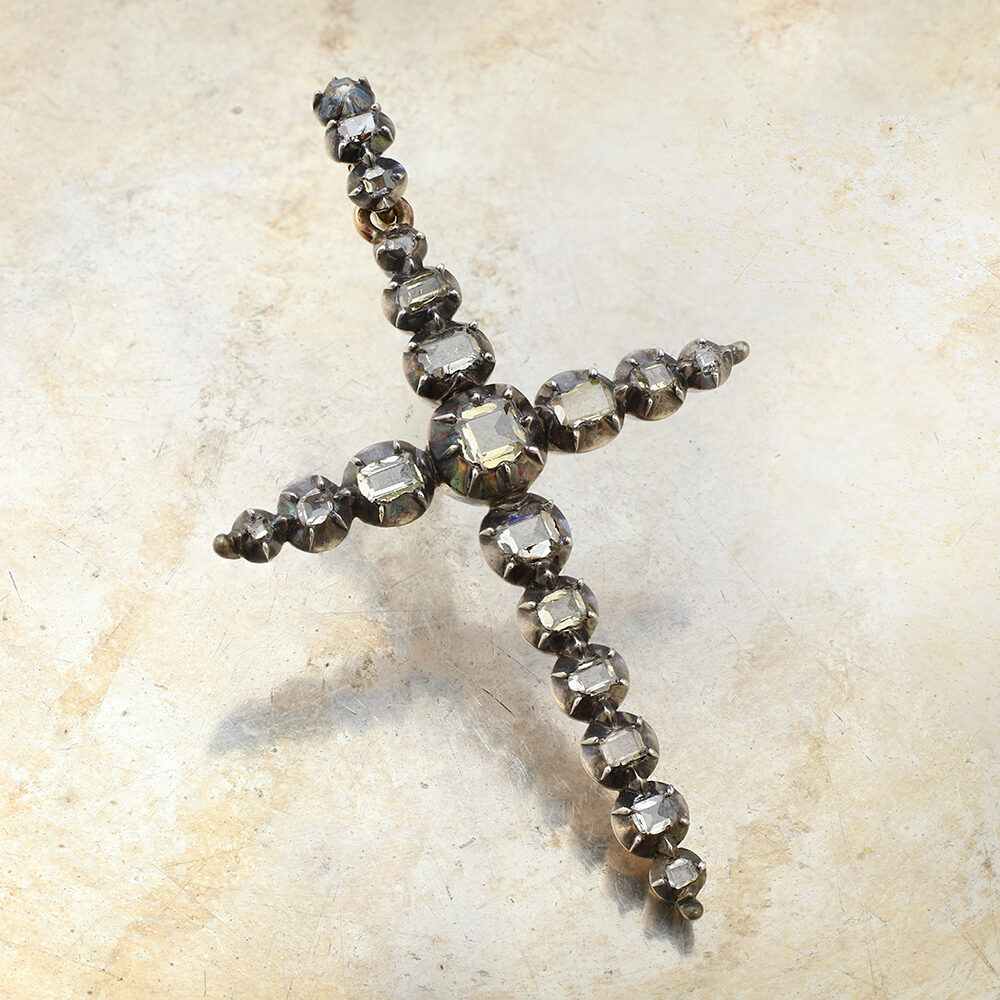 Antique Diamond Cross Pendant