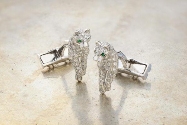 """Cartier """"PanthèredeCartier"""" Diamond Cufflinks"""