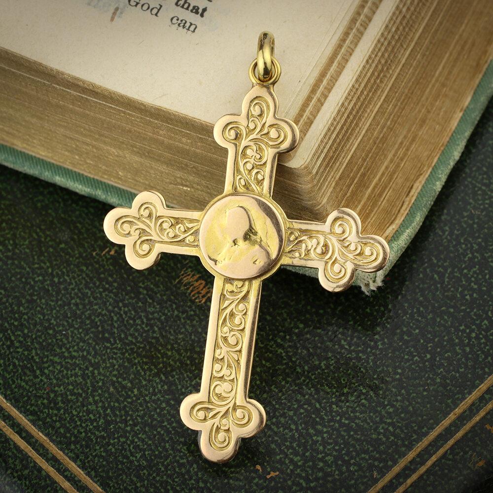 Antique Gold Cross Pendant