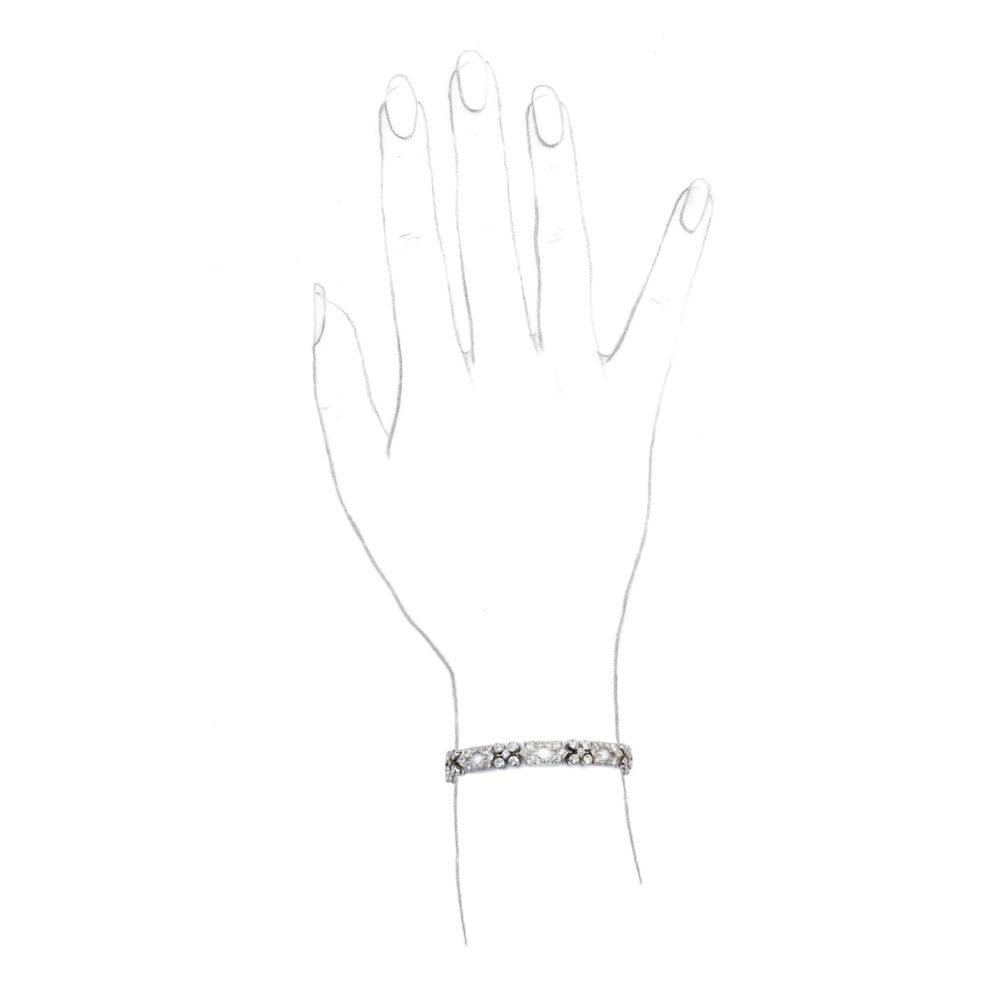Lacloche Diamond Set Bracelet