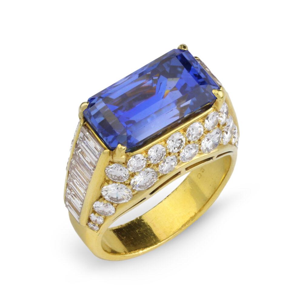Bulgari 'Trombino' Sapphire and Diamond Ring