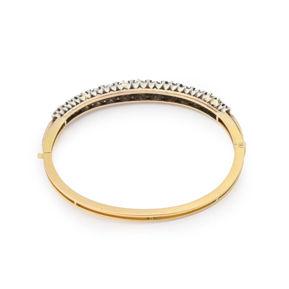 Antique Diamond Set Bangle Bracelet