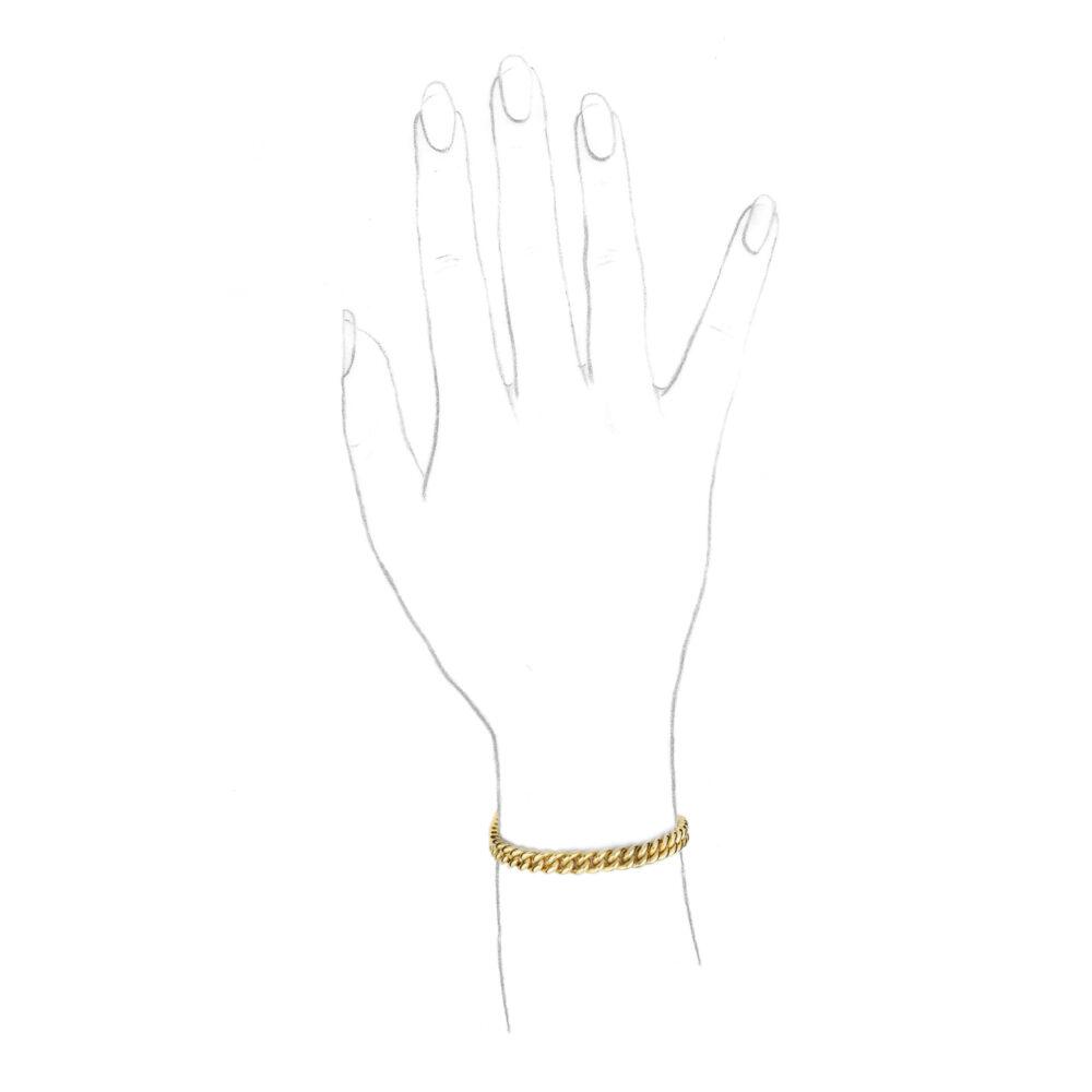 Bulgari Gold Link Bracelet
