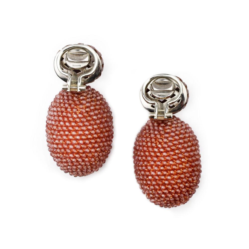 Hemmerle Garnet and Copper Ear Clips