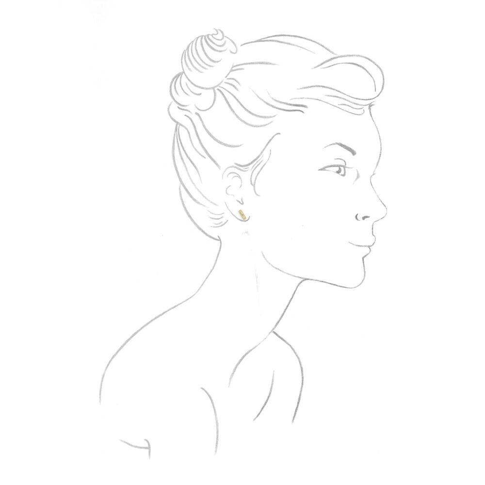 Baguette Diamond Stud Earrings