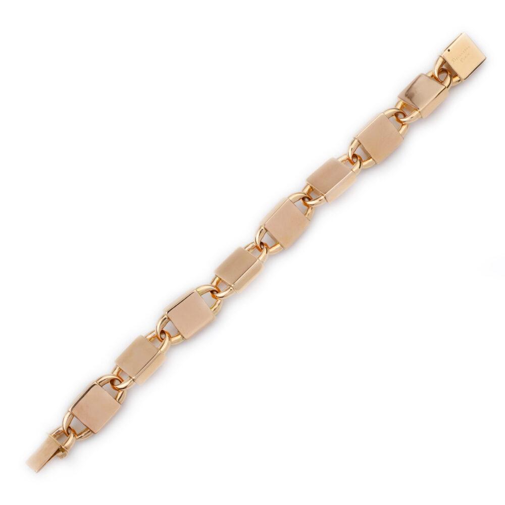 Boucheron Rose Gold Padlock Link Bracelet
