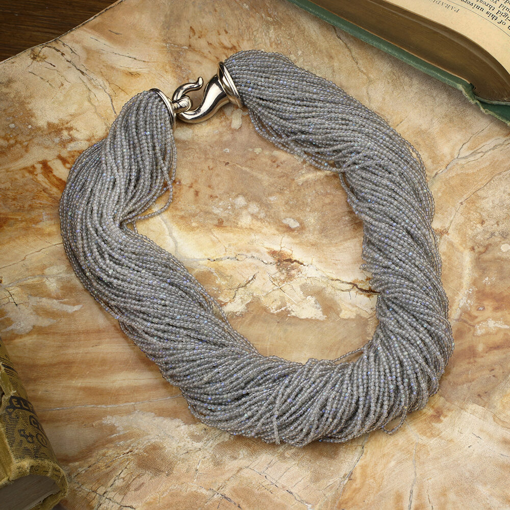 Hemmerle Multi-strand Labradorite Bead Torsade Necklace