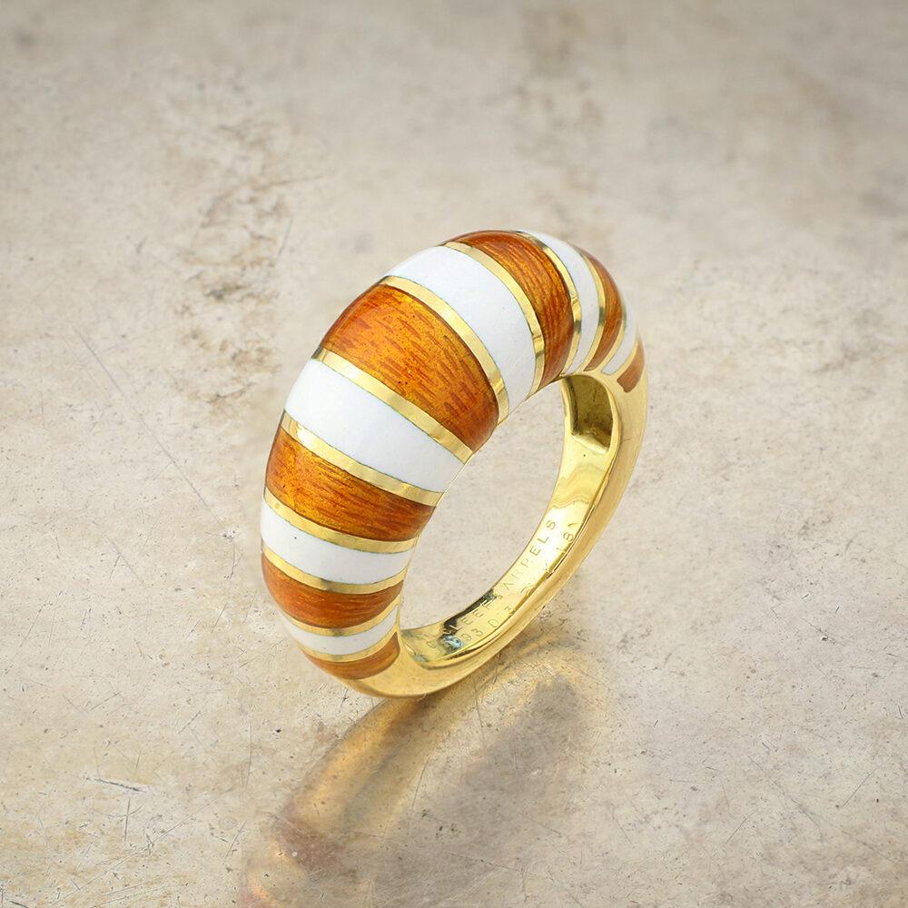 Van Cleef & Arpels Gold and Enamel Ring