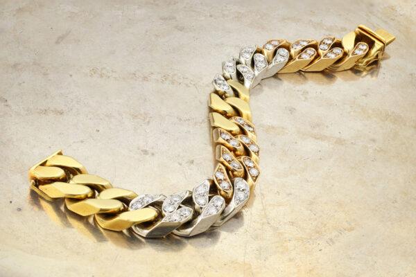 Bulgari Tricolor Gold And Diamond Bracelet