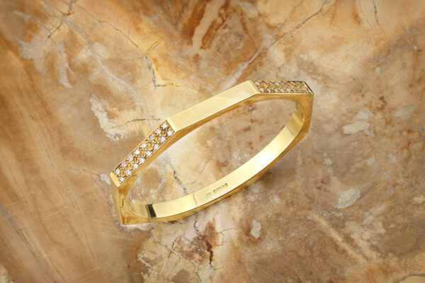 Tiffany & Co. Diamond Set Gold Bangle Bracelet